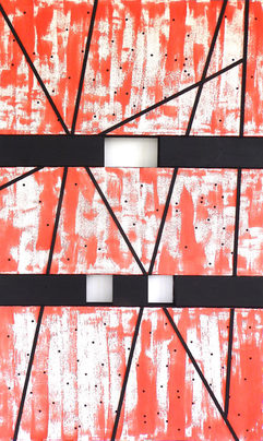 Leslie Shaw Zadoian Recent Work Acrylic, wood and paper on canvas