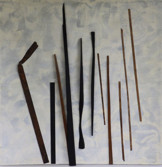 Leslie Shaw Zadoian Recent Work Acrylic, wood and metal
