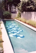 LINDA DANIELS Pool paint on plaster
