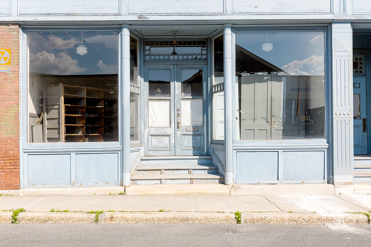 The Architecture of Nowhere (ongoing) Empty Storefront, North Adams, Massachusetts 2018