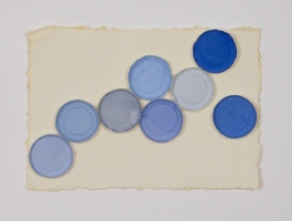 Linda Stillman Mixed media Gouache, paper cups on paper