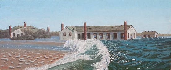 Frank Lind The Sea Level Series oil on panel