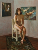 Frank Lind Nudes - Various Oil on canvas