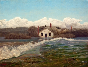 Frank Lind The Sea Level Series oil on canvas panel