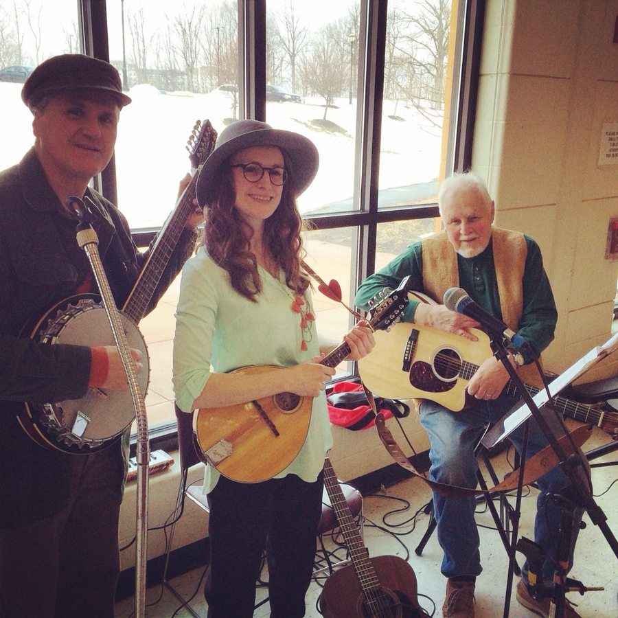 Lindsey Fyfe Music St. Patrick's Day Celebration, Parkville Senior Center, Hartford, CT. With Kipp Sturgeon and Dick Fyfe. 2015