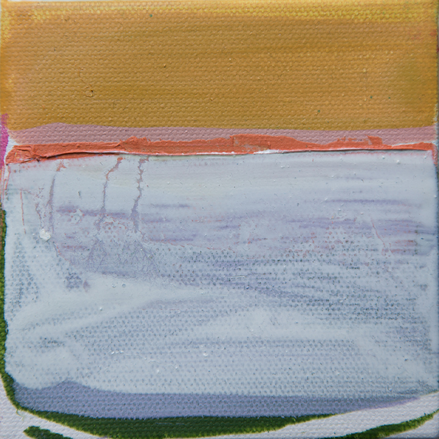 Tiny Paintings Tiny Painting #18 (white lines)