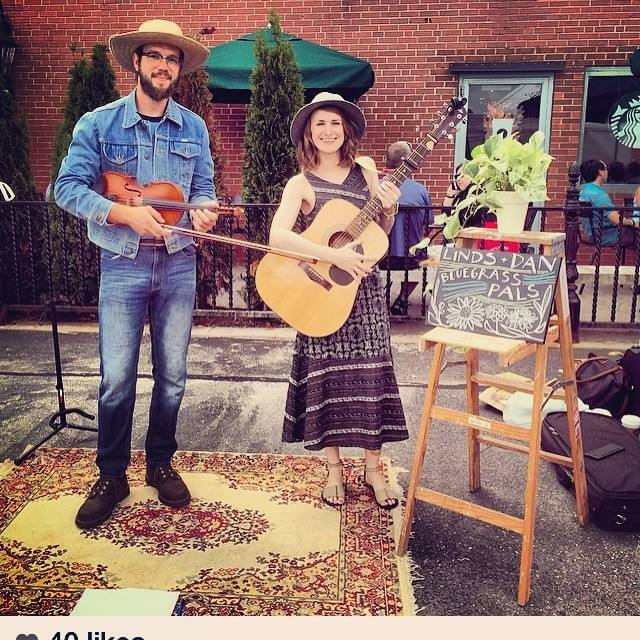 Lindsey Fyfe Music Bishop's Corner Farmer's Market with Dan Tressler, West Hartford, CT, 2015