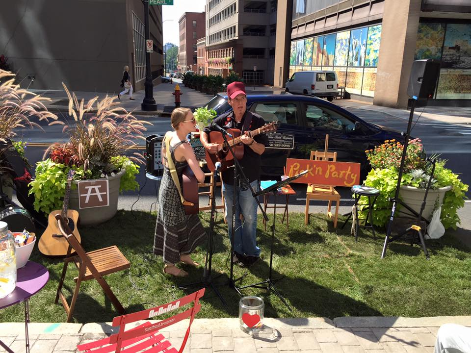 Lindsey Fyfe Music PARK(ing) Day, Greater Hartford Arts Council, Hartford, CT, 2015.