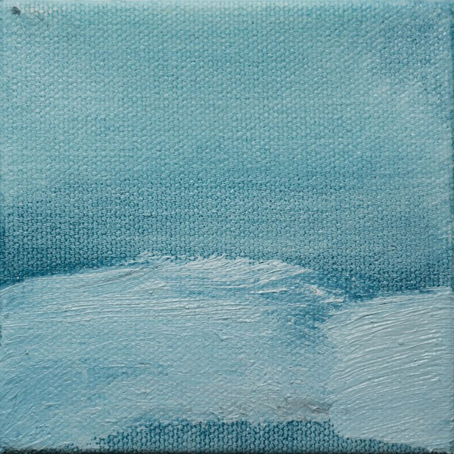 Tiny Paintings Tiny Painting (Blue Hill II)