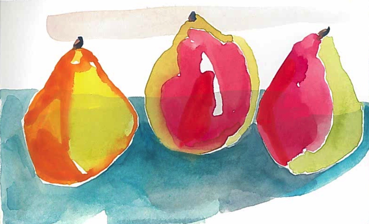 Works on Paper Blue Hill Pear Study I
