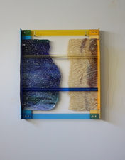 Lisa E. Nanni Metal, Glass, Acrylic blue and gold anodized aluminum, acrylic and Uroboros glass