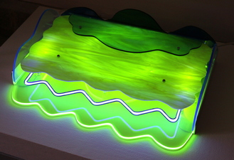 Lisa E. Nanni Metal, Neon, Glass, Acrylic