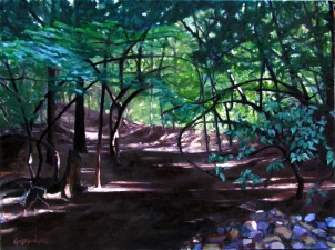 Lisa Goldfinger Landscape Oil on Canvas
