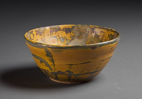 Oop Art Yellow Lustre Bowl
