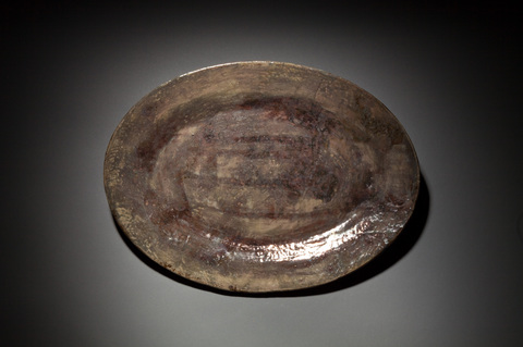Raku, Pit Fire and Luster ware Bronze platter