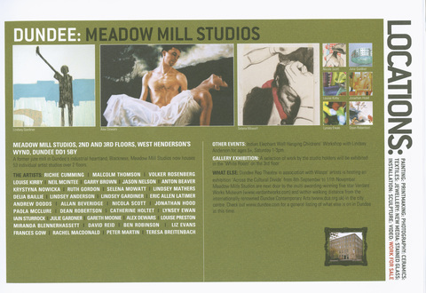 Meadow Mill Studio, Dundee, 2005 Meadow Mills WASPS studios, Dundee
