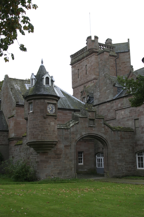 Hospitalfield, Arbroath, Scotland View of side entrance