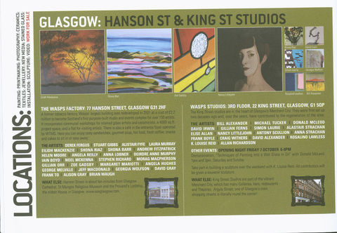 The WASPS Factory, 77 Hansen Street, Glasgow Studio Tour Invitation, WASPS studios, Glasgow