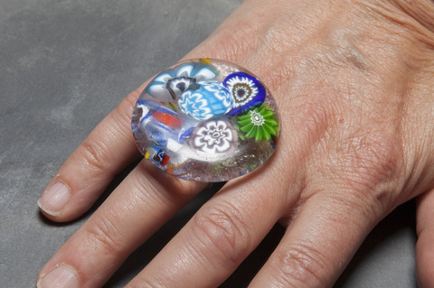 Glass Wear Murano glass ring