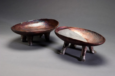 Raku, Pit Fire and Luster ware Hippo Pots