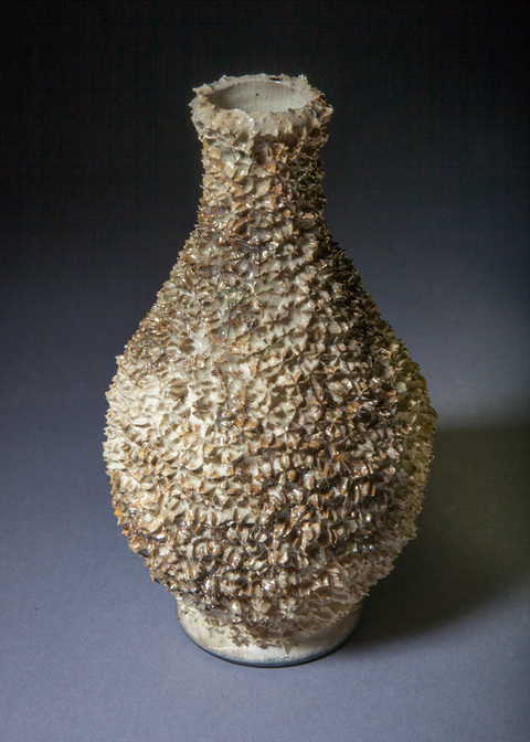 Bottles, Vases, Vessels and Lidded Jars Gold luster reef vase 1