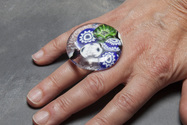 Murano glass ring