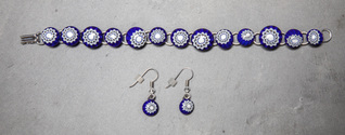 Murano dot bracelet and earring set