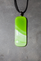 Large green swirl pendant necklace