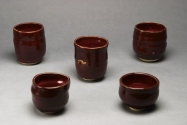 Lisa G Westheimer Ceramics & Glass    LisaGWCeramicsnGlass.Etsy.com Chawan, cups and bowls Ceramic, 14K gold