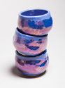 Antique blue luster chawan/tea bowls