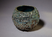 Blue, green and silver reef bowl