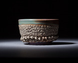 Purple amber reef chawan