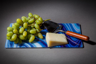 Blue swirl fused glass serving tray for desserts, snacks, cheese