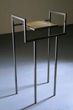 Livio Saganić Tables Steel and brass