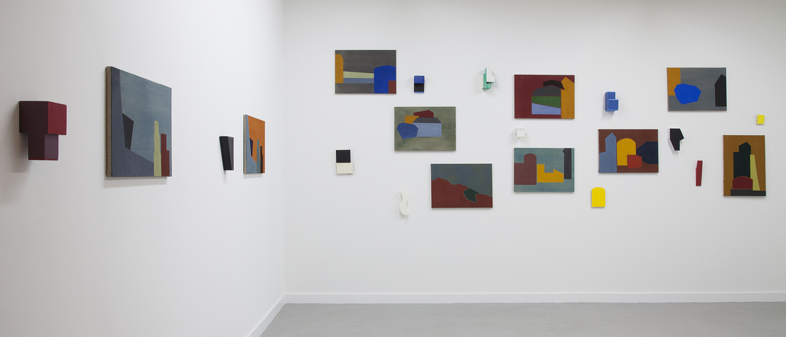 Liv Mette Larsen Exhibitions / Installations Paintings: Egg tempera on linen, Sculptures: Gesso on wood