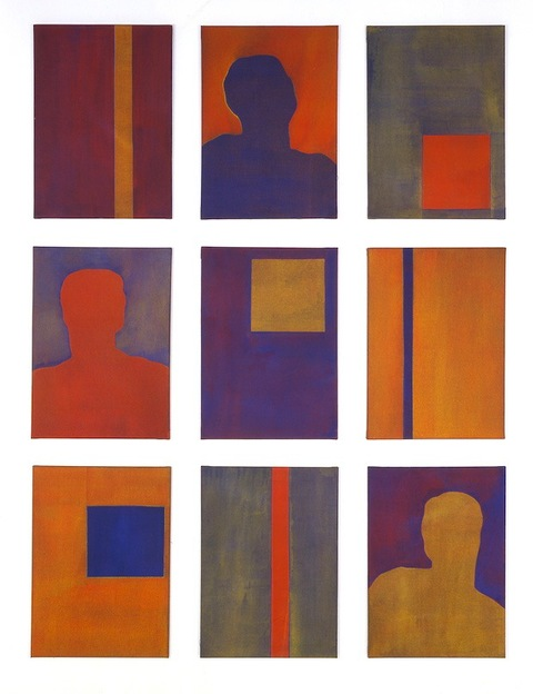 Liv Mette Larsen Paintings 1990 - 2000 Egg tempera on linen