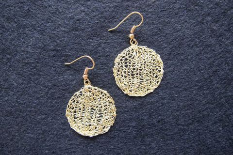 Earrings silver-plated wire, gold