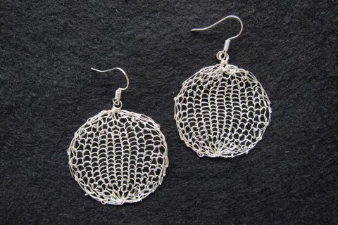 Earrings silver-plated silver wire