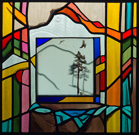 Liz Quantock Autonomous Panels II Leaded Stained Glass Panel