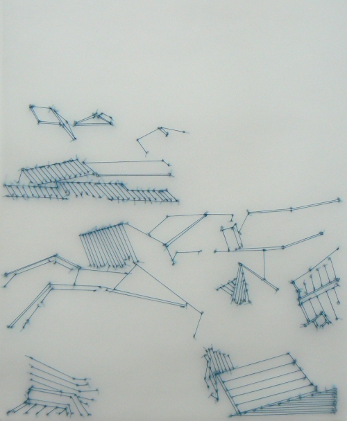 Liz Sweibel Japan Drawings | 2012-2015 Thread, vellum