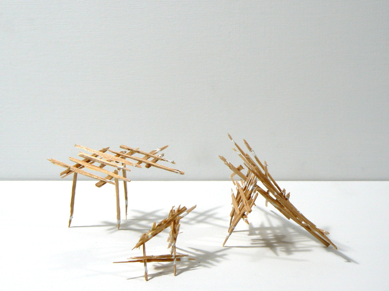 Liz Sweibel Splinter Sculptures | 2014-2015 Wood, paint