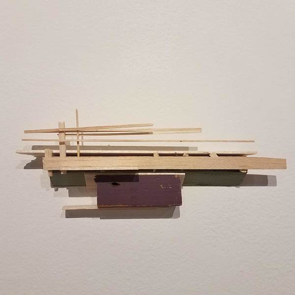 Liz Sweibel Stick + Balsa Sculptures | 2016 Found wood, paint, balsa