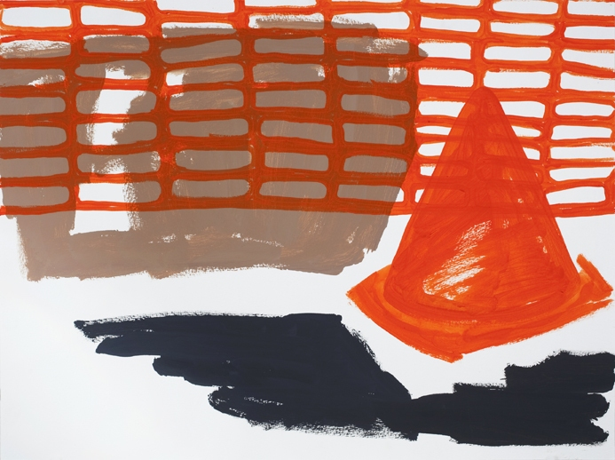 Works on Paper Construction Zone/Cone