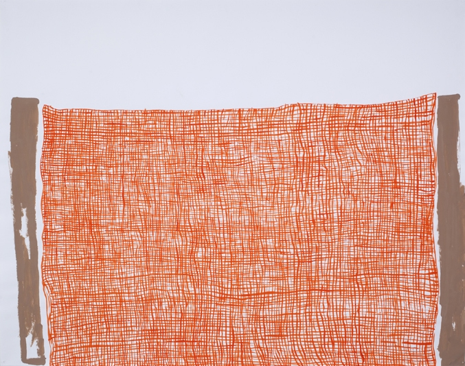Works on Paper Orange Mesh