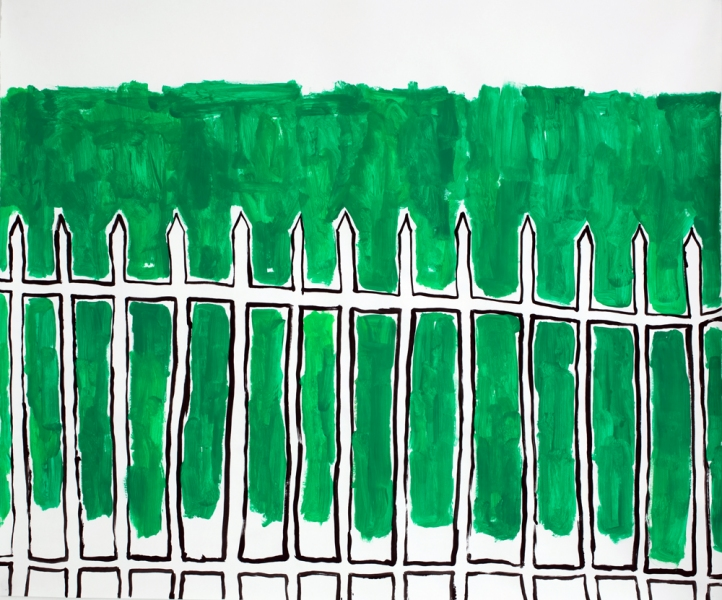 Works on Paper Iron Fence