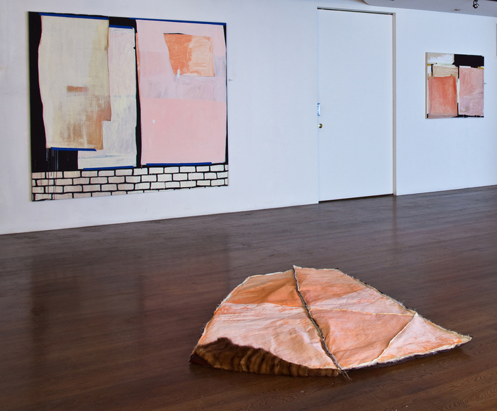 Textile Pieces Sleeping Bag 2 (turndown, installation view)