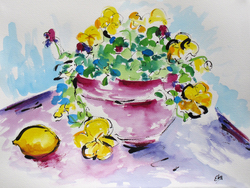Lois Eby Flowers & Still Life acrylic & ink on paper