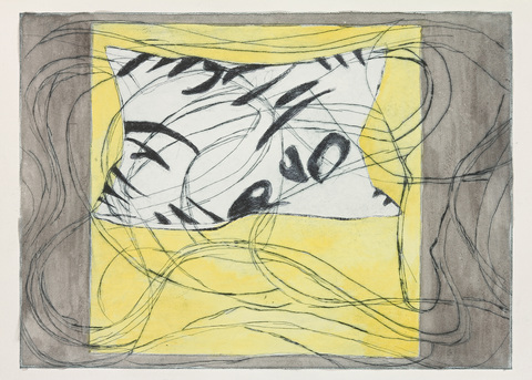 Lola Fraknoi Pillow Series Etching, collograph