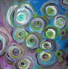Lorie McCown Paint acrylic/metalic paint on canvas