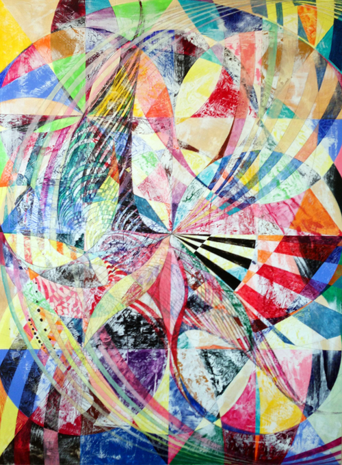 Lorien Suárez-Kanerva Wheel within a Wheel Artwork Acrylic on Ampersand Gesso Board Panel